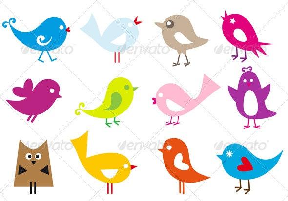 Vector Birds - Animals Characters