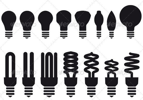 Energy Saving Bulbs - Man-made Objects Objects
