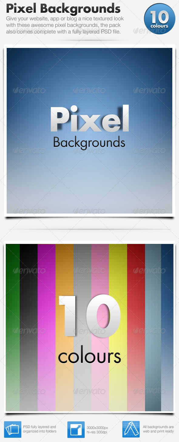 Pixel Backgrounds x10 - Backgrounds Graphics