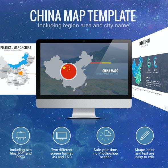 China Map - Editable Map Presentation