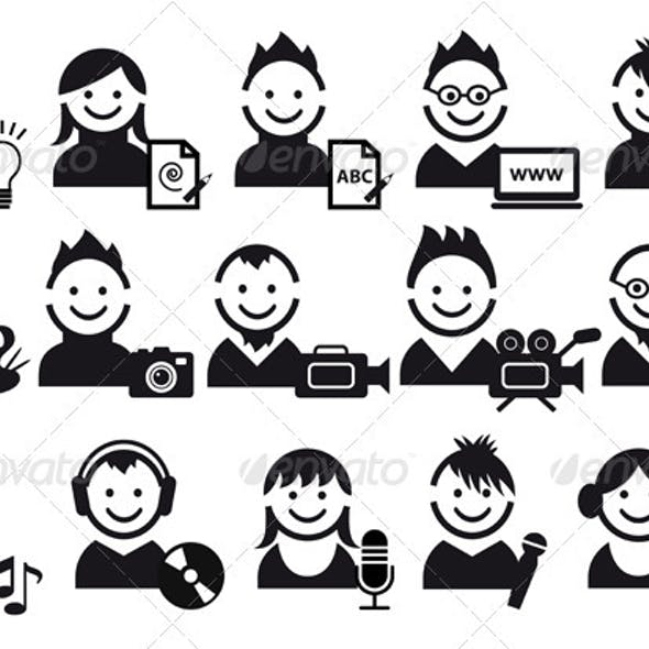 Creative People Icons
