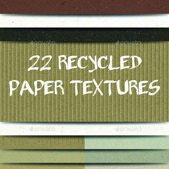 22 Paper Textures Pack - Recycled Materials