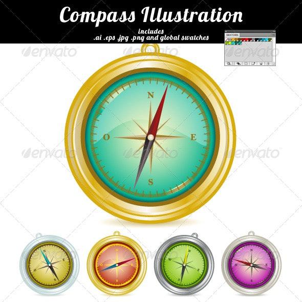 Compass 01 - Objects Vectors