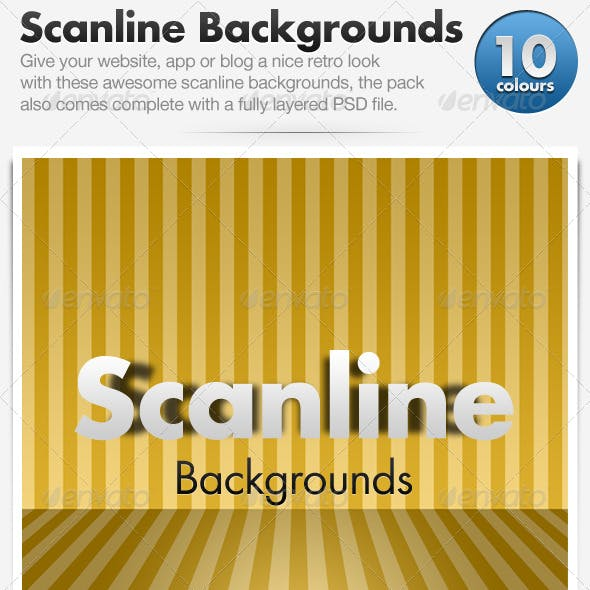 Scanline Backgrounds x10