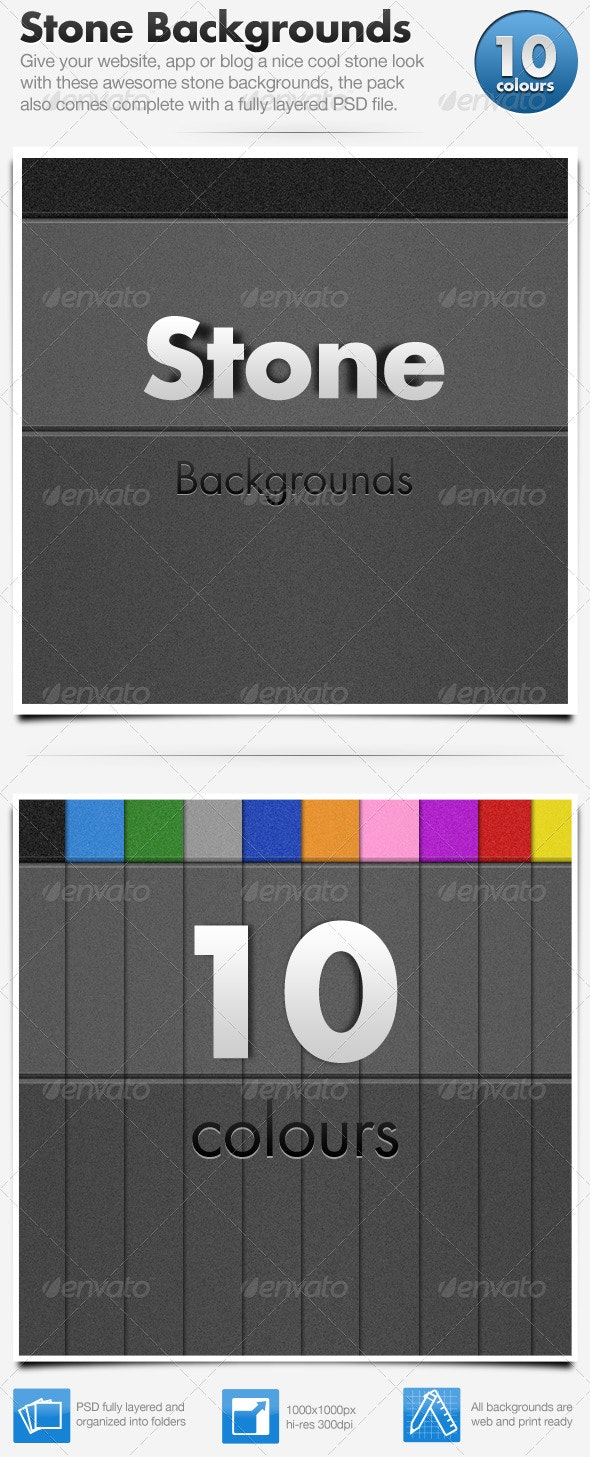 Stone Web Backgrounds x10 - Backgrounds Graphics