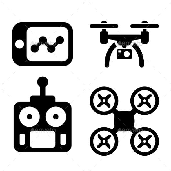 Quadrocopter Icons.