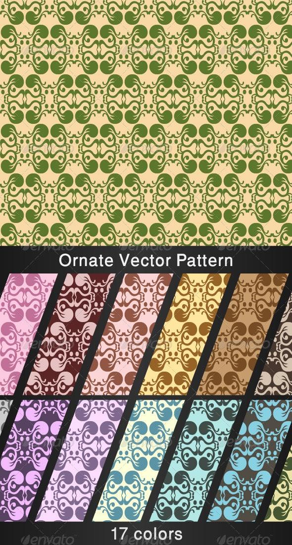 Ornate Vector Pattern - 17 colors - Patterns Decorative