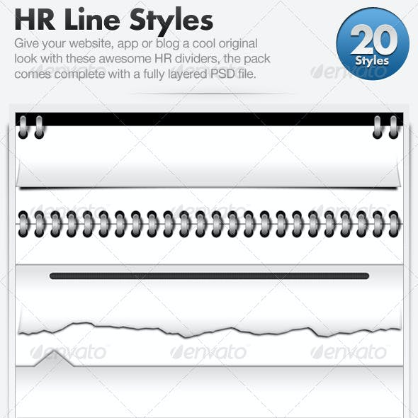 20 Web Page Dividers (Horizontal Rules)