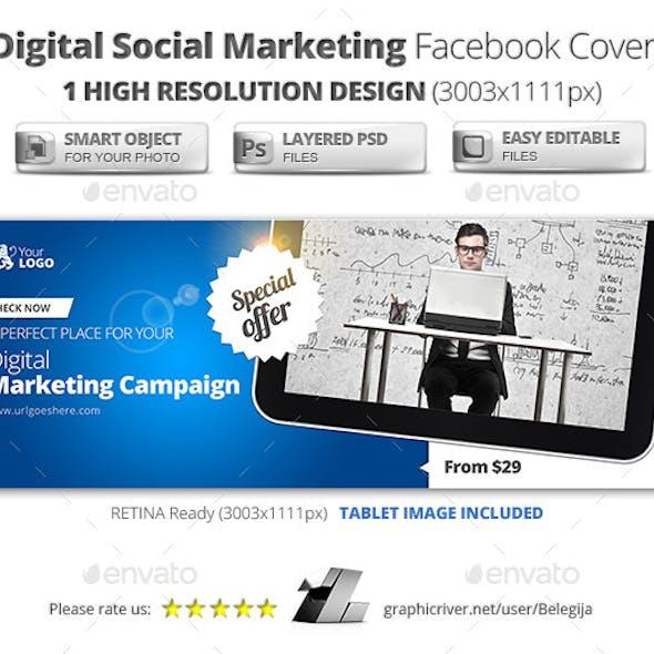 Digital Social Marketing Facebook Covers