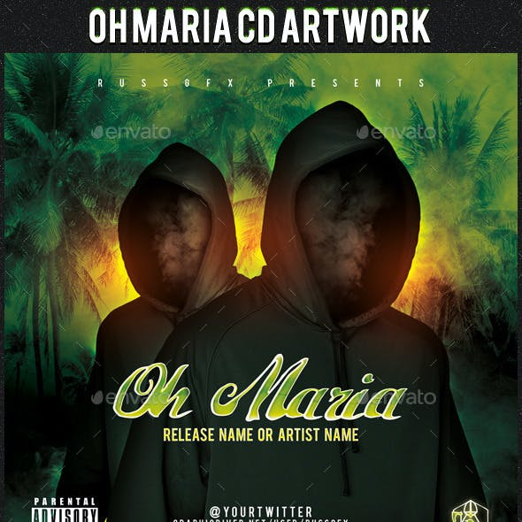 Oh Maria PSD CD Artwork Cover Template