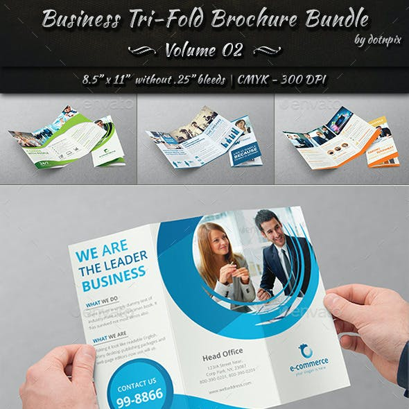 Business Tri-Fold Brochure Bundle | Volume 2