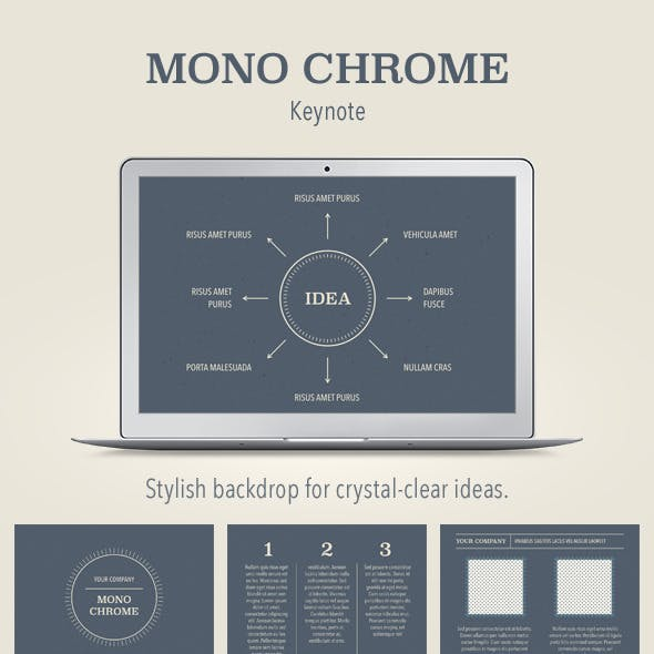 Mono Chrome Keynote Template