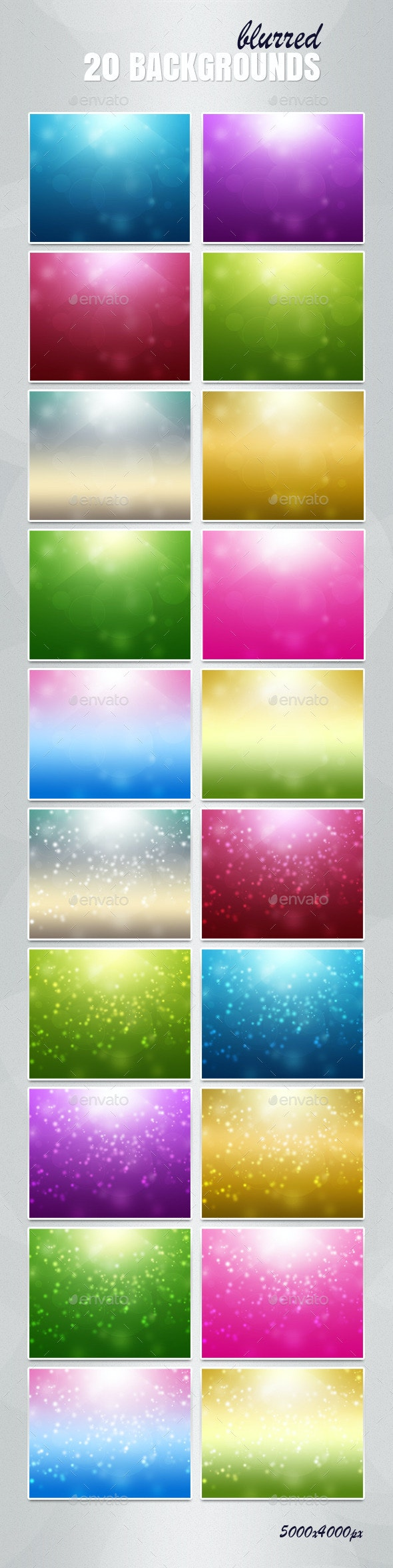 20 Backgrounds Blurred - Abstract Backgrounds