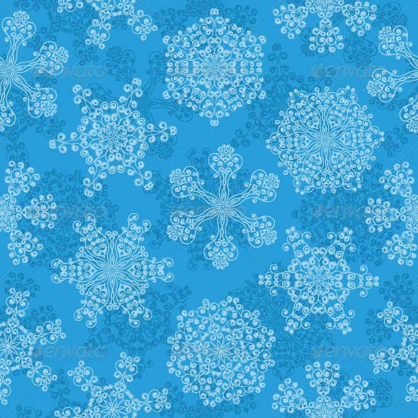 Seamless pattern with a snowflakes - Christmas Seasons/Holidays