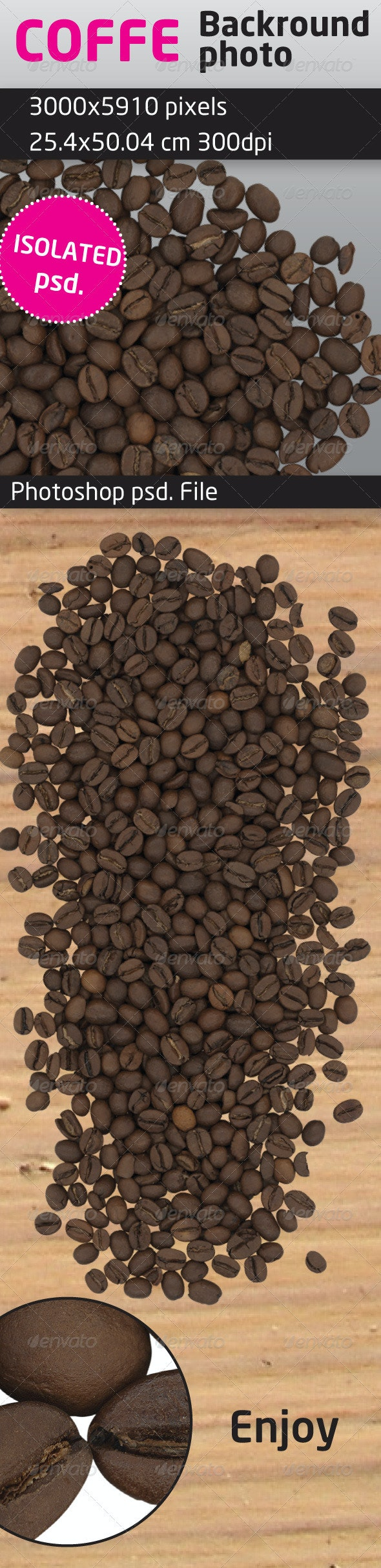 Coffee Beans Isolated Backround   - Food & Drink Isolated Objects