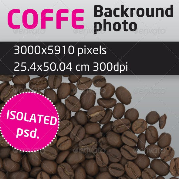Coffee Beans Isolated Backround