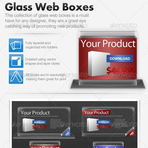 3D Glass Web Promotion Boxes