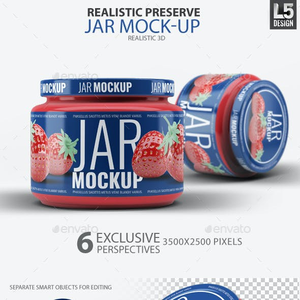 Realistic Preserve Jar Mock-Up