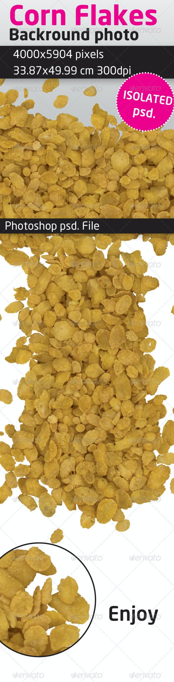 Corn Flakes Isolated Backround - Food & Drink Isolated Objects