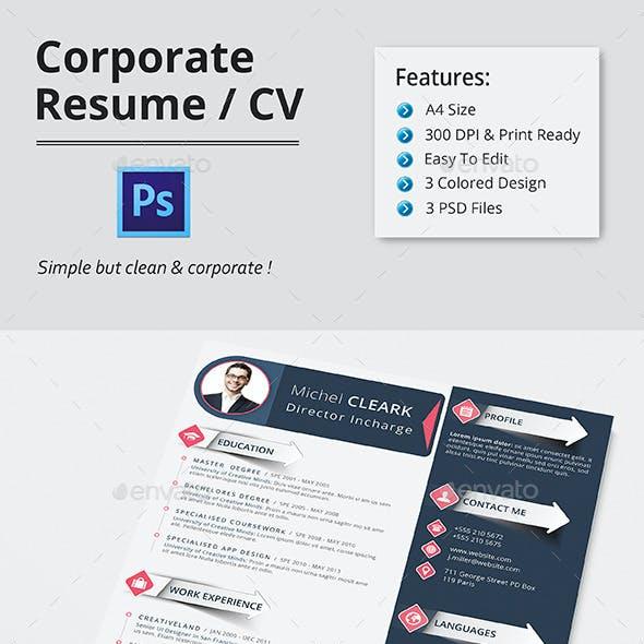 CORPORATE RESUME/CV