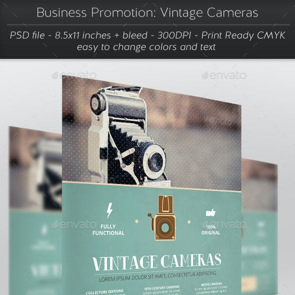 Business Promotion: Vintage Cameras