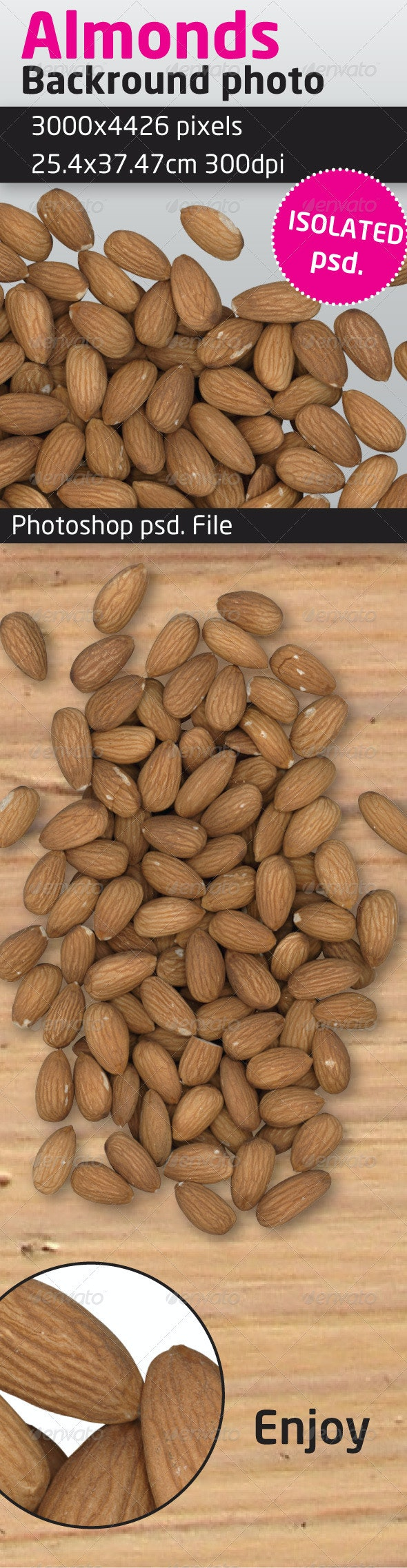 Almonds Isolated Backround - Food & Drink Isolated Objects