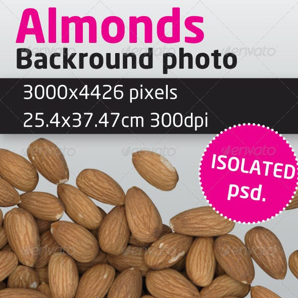 Almonds Isolated Backround