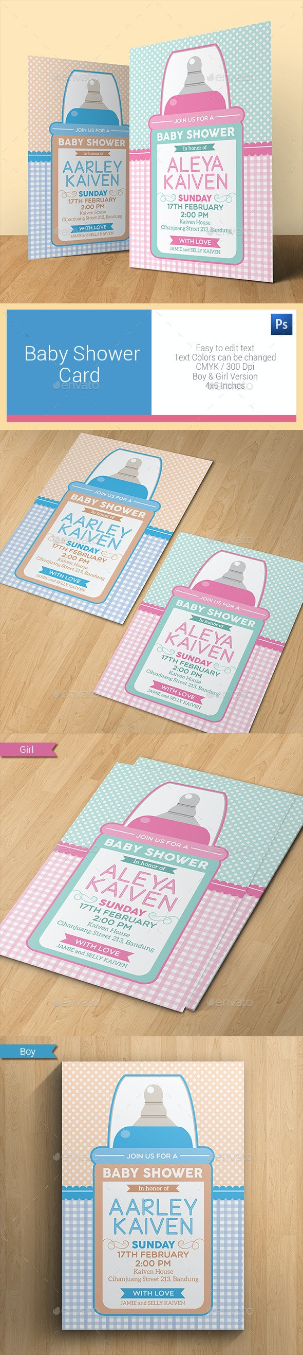 Baby Shower Card - Invitations Cards & Invites