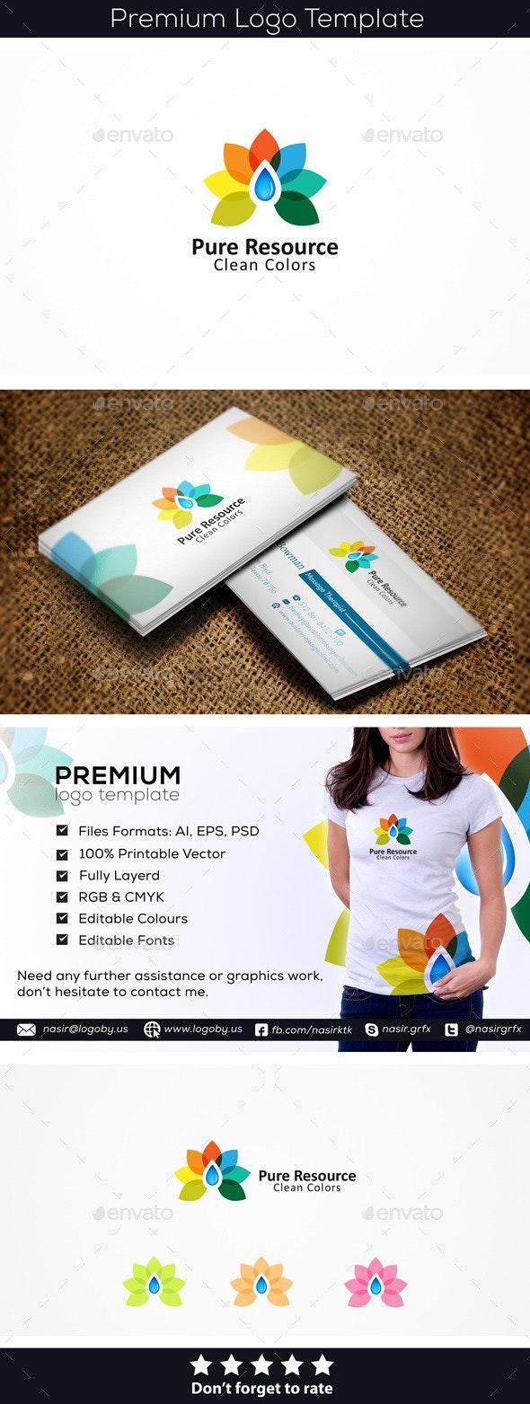 Colorful Drop - Nature Logo Templates
