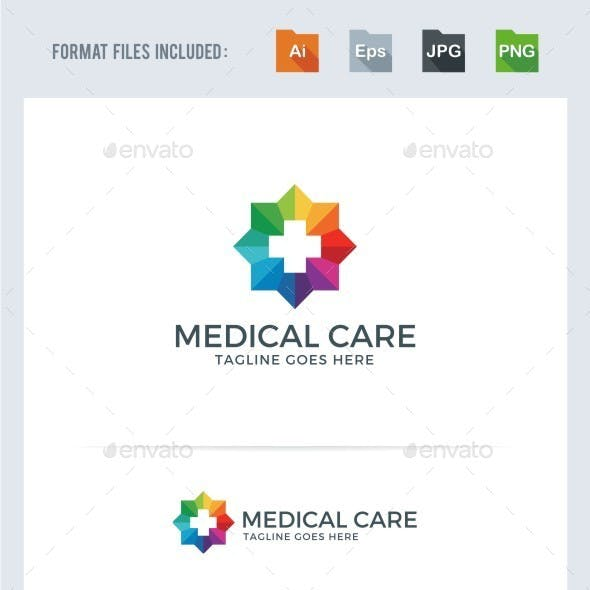 Medical Care Logo Template