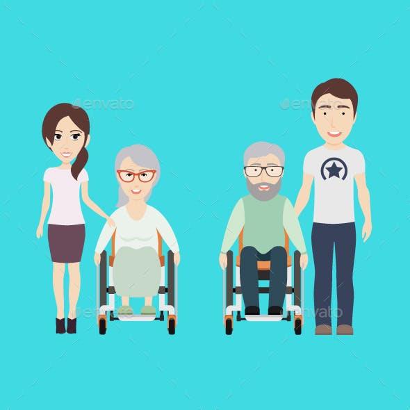 Children Help Oldmen