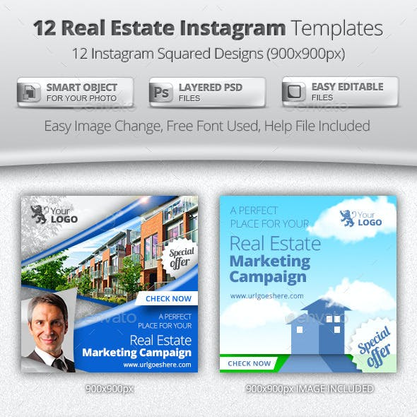 12 Real Estate Instagram Templates