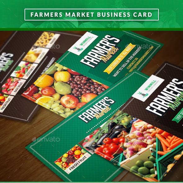 Farmer's Market Commerce Business Cards