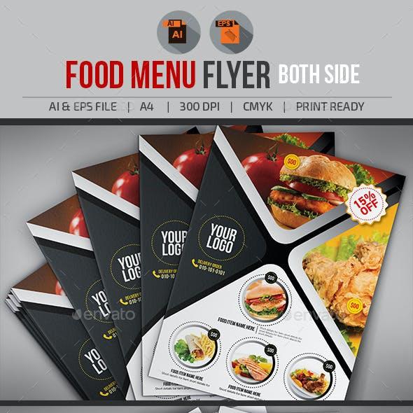 Food Menu Flyer V2