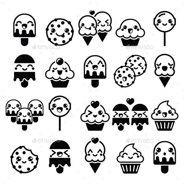 Kawaii Food Characters - Food Objects