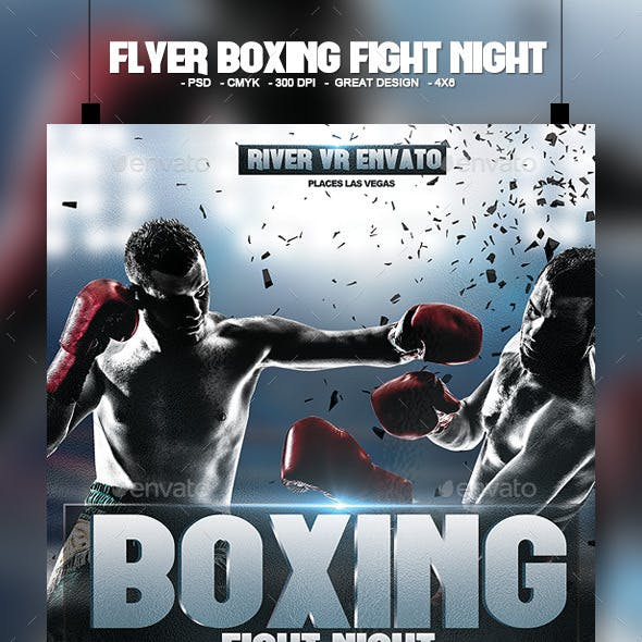 Flyer Boxing Fight Night