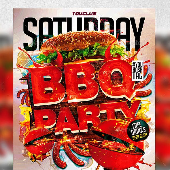 Flyer BBQ Party Konnekt