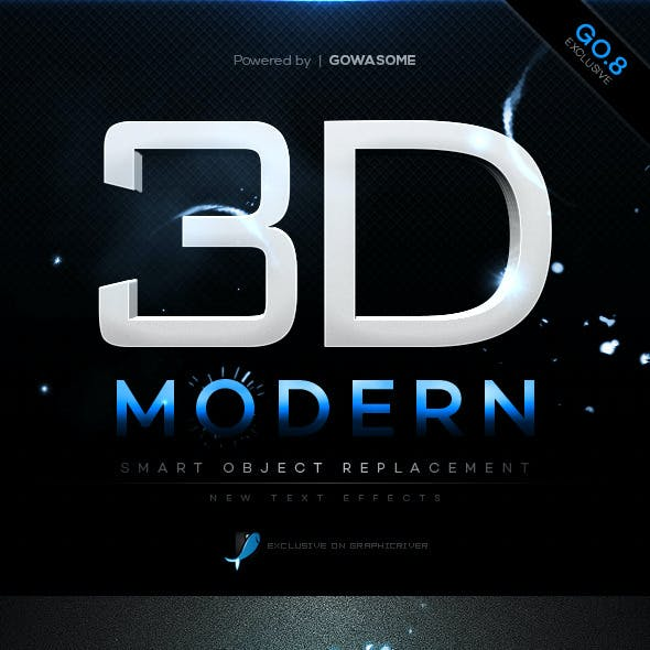 Modern 3D Text Effects GO.8