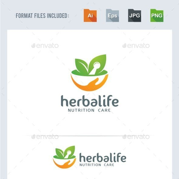 Herbal Nutrition Logo Template