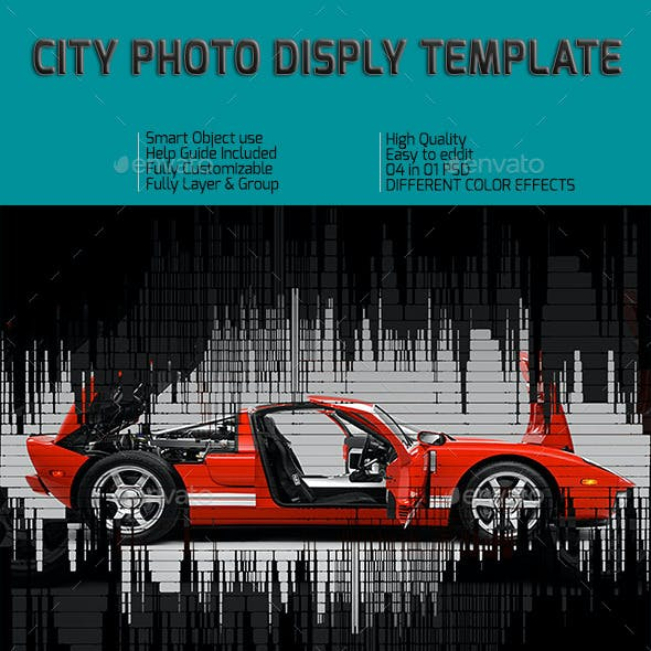 City Photo Frame Template