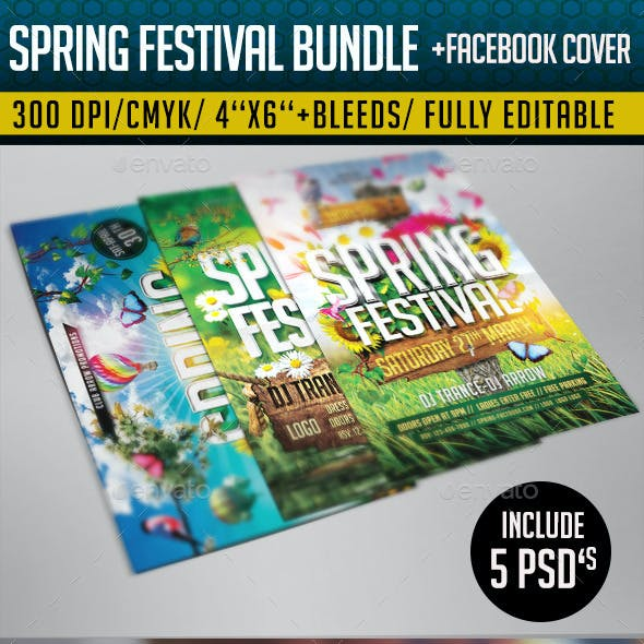 Spring Festival Flyer Bundle
