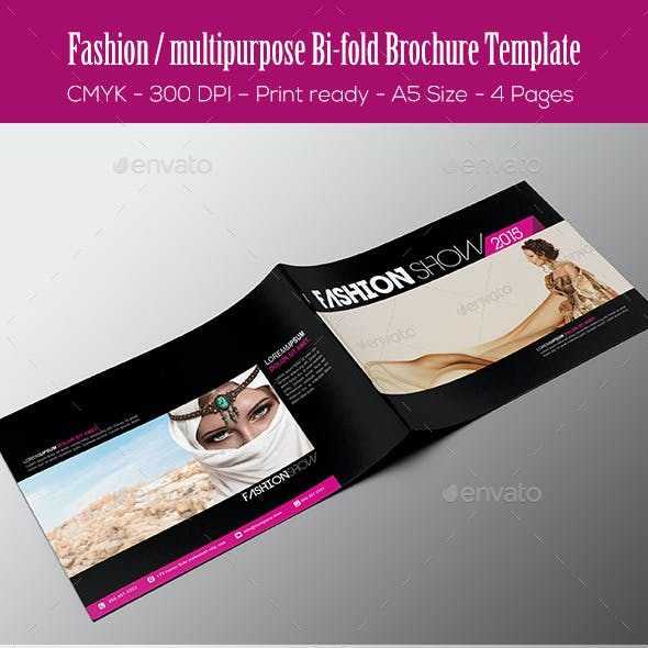 Fashion / Multipurpose Bi-fold Brochure Template
