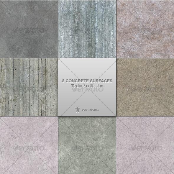 8 concrete surfaces - Concrete Textures