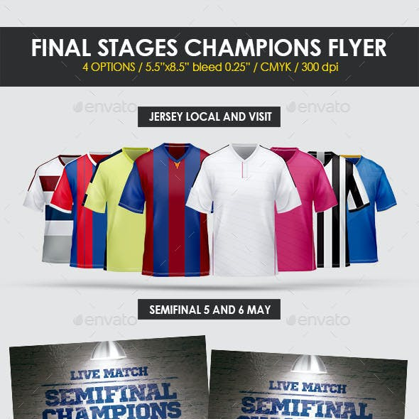 Final Stages Champions Cup Flyer Template