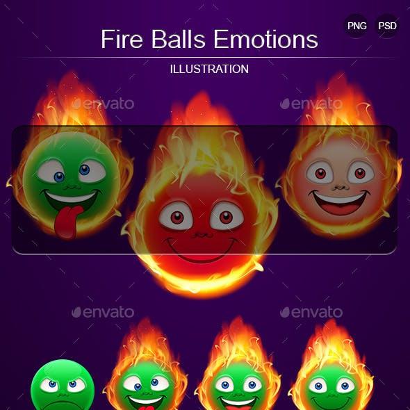 Fire Balls Emotions