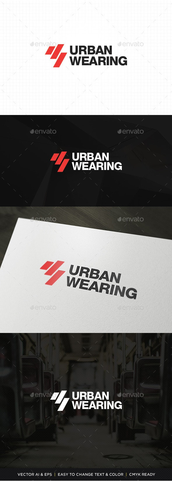 Urban Wearing Logo - Abstract Logo Templates