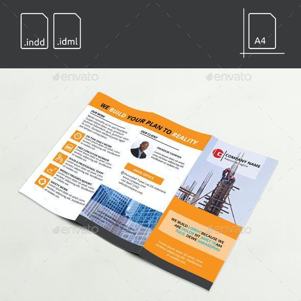 Worker Construction Tri-Fold Brochure