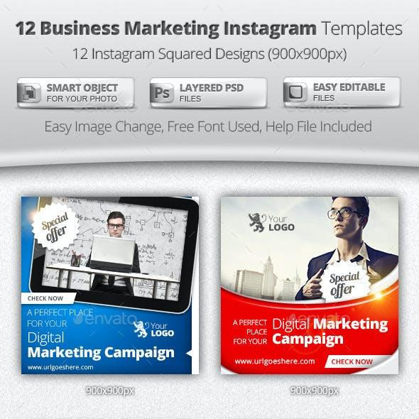 Business Digital Marketing Instagram Templates