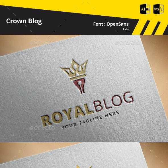 Crown Blog Logo Template