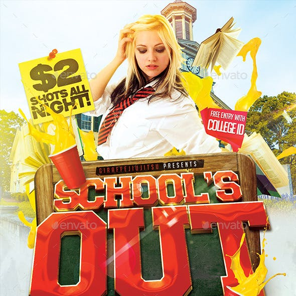 Schools Out Flyer Template